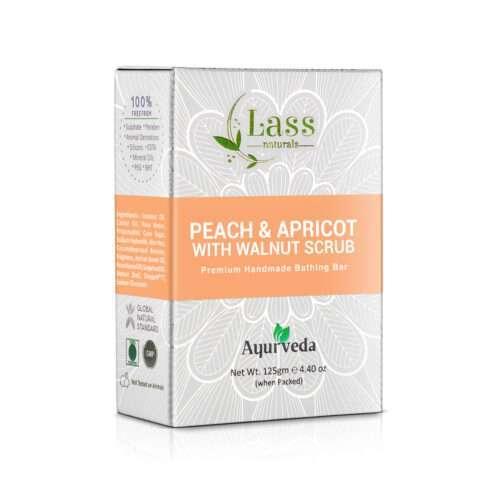 Peach & Apricot with Walnut Scrub Handmade Premium Bar