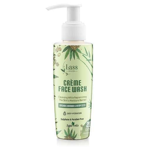 Hemp Seed & Bamboo Organic Creme Face Wash