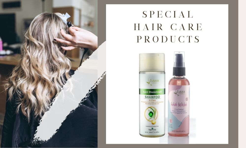 newly launched Special hair serum and anti-dandruff shampoo